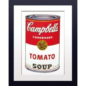 ポップアート 名画 アンディ ウォーホル キャンベルのスープ缶 トマト/絵画 壁掛け 壁飾り インテリア 油絵 花 アートパネル ポスター 絵 額入り リビング 玄関|ayuwara