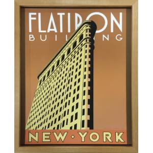 アートフレーム Brian James Flatiron Building/絵画 壁掛け 壁飾り インテリア 油絵 花 アートパネル ポスター 絵 額入り リビング 玄関|ayuwara