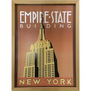 アートフレーム Brian James Empire State Building/絵画 壁掛け 壁飾り インテリア 油絵 花 アートパネル ポスター 絵 額入り リビング 玄関|ayuwara