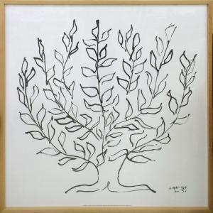 アートフレーム Henri Matisse Le platane(Silkscreen)/絵画 壁掛け 壁飾り インテリア 油絵 花 アートパネル ポスター 絵 額入り リビング 玄関|ayuwara