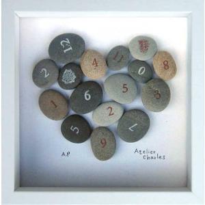 フラワーフレーム Heart Series Stone Heart(ハート シリーズ ストーン ハート)/絵画 壁掛け 壁飾り インテリア|ayuwara