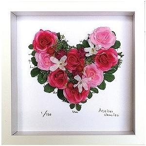 フラワーフレーム ゆうパケット Heart Series Paris(ハート シリーズ パリ)/絵画 壁掛け 壁飾り インテリア 油絵 花 アートパネル ポスター 絵|ayuwara