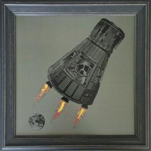 アートフレーム Jason Laurits Space Puppy/絵画 壁掛け 壁飾り インテリア 油絵 花 アートパネル ポスター 絵 額入り リビング 玄関|ayuwara