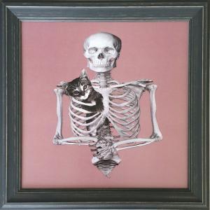 アートフレーム Jason Laurits Skeleton/絵画 壁掛け 壁飾り インテリア 油絵 花 アートパネル ポスター 絵 額入り リビング 玄関|ayuwara