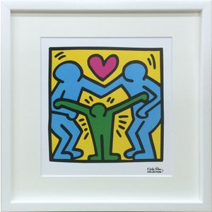 アートフレーム Keith Haring Untitled/絵画 壁掛け 壁飾り インテリア 油絵 花 アートパネル ポスター 絵 額入り リビング 玄関|ayuwara