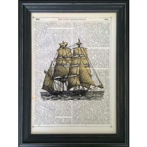 アートフレーム Marion McConaghie Set Sail/絵画 壁掛け 壁飾り インテリア 油絵 花 アートパネル ポスター 絵 額入り リビング 玄関|ayuwara