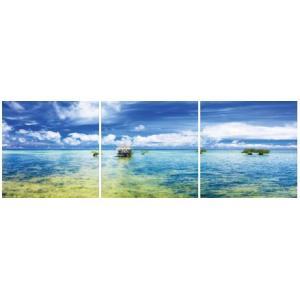 アートフレーム ND Concept Frame 3枚set 海2/絵画 壁掛け 壁飾り インテリア 油絵 花 アートパネル ポスター 絵 額入り リビング 玄関|ayuwara