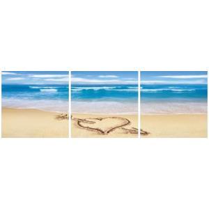 アートフレーム ND Concept Frame 3枚set 海3/絵画 壁掛け 壁飾り インテリア 油絵 花 アートパネル ポスター 絵 額入り リビング 玄関|ayuwara
