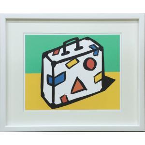 アートフレーム Slaughter Suitcase/絵画 壁掛け 壁飾り インテリア 油絵 花 アートパネル ポスター 絵 額入り リビング 玄関|ayuwara