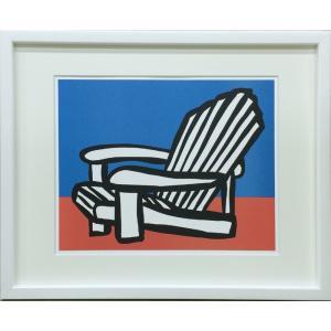 アートフレーム Slaughter Adirondack Chair/絵画 壁掛け 壁飾り インテリア 油絵 花 アートパネル ポスター 絵 額入り リビング 玄関|ayuwara
