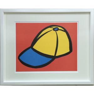 アートフレーム Slaughter Baseball Hat/絵画 壁掛け 壁飾り インテリア 油絵 花 アートパネル ポスター 絵 額入り リビング 玄関|ayuwara