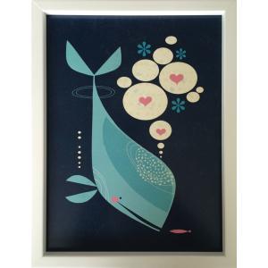 アートフレーム Tracy Walker Whale has a Friend/絵画 壁掛け 壁飾り インテリア 油絵 花 アートパネル ポスター 絵 額入り リビング 玄関|ayuwara