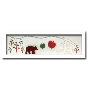 アートフレーム/ゆうパケット アニマル クマ/WH/絵画 壁掛け 壁飾り インテリア 油絵 花 アートパネル ポスター 絵 額入り リビング 玄関|ayuwara