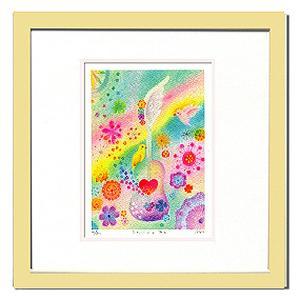 絵画 壁飾り/Ryo てんごくのおと/絵画 壁掛け 壁飾り インテリア 油絵 花 アートパネル ポスター 絵 額入り リビング 玄関|ayuwara