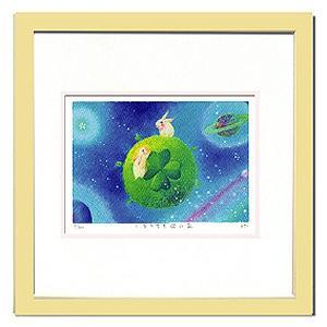 絵画 壁飾り/Ryo しあわせを運ぶ星/絵画 壁掛け 壁飾り インテリア 油絵 花 アートパネル ポスター 絵 額入り リビング 玄関|ayuwara