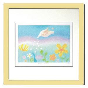 絵画 壁飾り/Ryo みずやりぞうさん/絵画 壁掛け 壁飾り インテリア 油絵 花 アートパネル ポスター 絵 額入り リビング 玄関|ayuwara