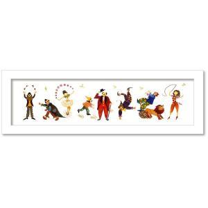 アートフレーム ゆうパケット Atelier Flower Horizon  サーカス/絵画 壁掛け 壁飾り インテリア 油絵 花 アートパネル ポスター 絵 額入り リビング 玄関|ayuwara