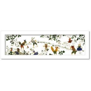 アートフレーム ゆうパケット Atelier Flower Horizon  川遊び/絵画 壁掛け 壁飾り インテリア 油絵 花 アートパネル ポスター 絵 額入り リビング 玄関|ayuwara
