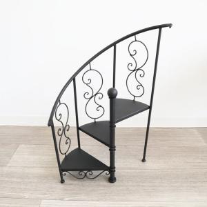 飾り棚 アンティーク調 花台(階段型) ディスプレイ台 インテリア 壁掛け アート 絵画 おしゃれ シンプル モダン アンティーク
