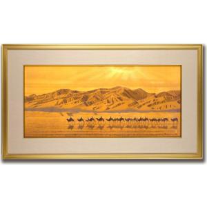 絵画/絲綢之路天空/絵画 壁掛け 壁飾り インテリア 油絵 花 アートパネル ポスター 絵 額入り リビング 玄関|ayuwara