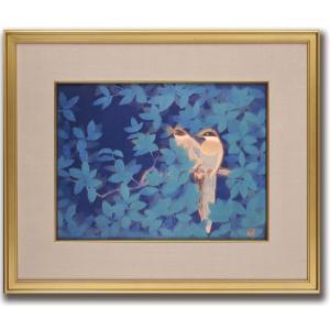 絵画/尾長鳥/絵画 壁掛け 壁飾り インテリア 油絵 花 アートパネル ポスター 絵 額入り リビング 玄関|ayuwara