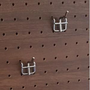 壁掛けボードフレーム用フック ペグボード パンチングボード 有孔ボード フック 物掛け用 長さ2cm/インテリア 壁掛け 額入り 油絵 ポスター アート おしゃれ|ayuwara