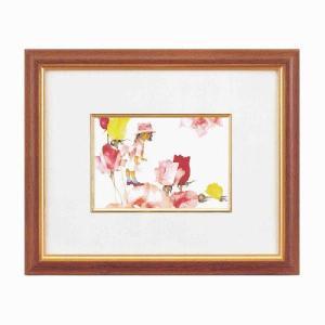 アートフレーム/いわさきちひろインチ額ヨコ/絵画 壁掛け 壁飾り インテリア 油絵 花 アートパネル ポスター 絵 額入り リビング 玄関 ayuwara