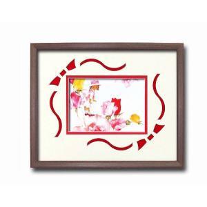 アートフレーム/いわさきちひろアート額 花と少女/絵画 壁掛け 壁飾り インテリア 油絵 花 アートパネル ポスター 絵 額入り リビング 玄関 ayuwara