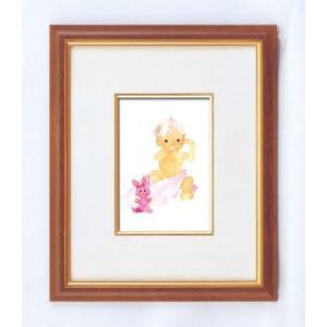 アートフレーム/いわさきちひろインチ額タテ/絵画 壁掛け 壁飾り インテリア 油絵 花 アートパネル ポスター 絵 額入り リビング 玄関 ayuwara