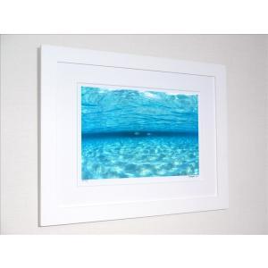 アートフォト 絵画 壁掛け/透明な海を泳ぐ魚(モルディブ)/絵画 壁掛け 壁飾り インテリア 油絵 花 アートパネル ポスター 絵 額入り リビング 玄関|ayuwara