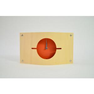 時計 WALL CLOCK S オレンジ色 ヤマト工芸 yamatojapan/ウォールクロック インテリア 壁掛け ギフト プレゼント 新築祝い おしゃれ アート ayuwara
