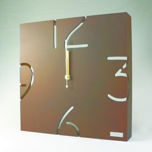 時計 パズル ウォールタイプ クロック W ブラウン ヤマト工芸/ウォールクロック インテリア 壁掛け ギフト プレゼント 新築祝い おしゃれ アート ayuwara