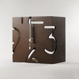 時計 パズル スタンドタイプ クロック S  ブラウン ヤマト工芸/ウォールクロック インテリア 壁掛け ギフト プレゼント 新築祝い おしゃれ アート ayuwara