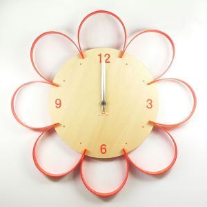 時計 FLOWER CLOCK オレンジ ヤマト工芸 yamatojapan/ウォールクロック インテリア 壁掛け ギフト プレゼント 新築祝い おしゃれ アート ayuwara