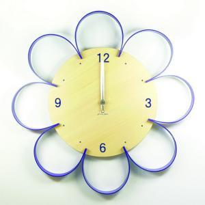 時計 FLOWER CLOCK パープル ヤマト工芸 yamatojapan/ウォールクロック インテリア 壁掛け ギフト プレゼント 新築祝い おしゃれ アート ayuwara