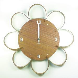 時計 FLOWER CLOCK ウォールナット ヤマト工芸 yamatojapan/ウォールクロック インテリア 壁掛け ギフト プレゼント 新築祝い おしゃれ アート ayuwara