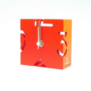 時計 CLOCK PUZZLE-MINI オレンジ色 ヤマト工芸 yamatojapan/ウォールクロック インテリア 壁掛け ギフト プレゼント 新築祝い おしゃれ アート|ayuwara