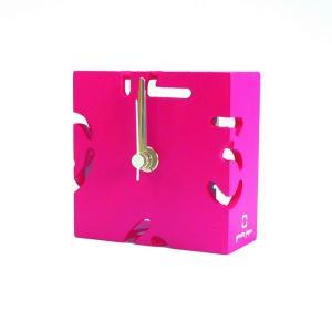 時計 CLOCK PUZZLE-MINI ピンク色 ヤマト工芸 yamatojapan/ウォールクロック インテリア 壁掛け ギフト プレゼント 新築祝い おしゃれ アート|ayuwara