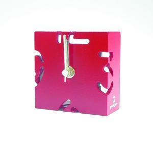時計 CLOCK PUZZLE-MINI 赤色 ヤマト工芸 yamatojapan/ウォールクロック インテリア 壁掛け ギフト プレゼント 新築祝い おしゃれ アート|ayuwara