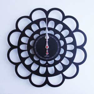 時計 BOTAN CLOCK 黒色 ヤマト工芸 yamatojapan/ウォールクロック インテリア 壁掛け ギフト プレゼント 新築祝い おしゃれ アート|ayuwara