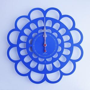 時計 BOTAN CLOCK 青色 ヤマト工芸 yamatojapan/ウォールクロック インテリア 壁掛け ギフト プレゼント 新築祝い おしゃれ アート|ayuwara