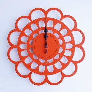 時計 BOTAN CLOCK オレンジ色 ヤマト工芸 yamatojapan/ウォールクロック インテリア 壁掛け ギフト プレゼント 新築祝い おしゃれ アート|ayuwara