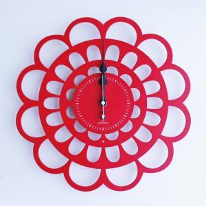 時計 BOTAN CLOCK 赤色 ヤマト工芸 yamatojapan/ウォールクロック インテリア 壁掛け ギフト プレゼント 新築祝い おしゃれ アート|ayuwara