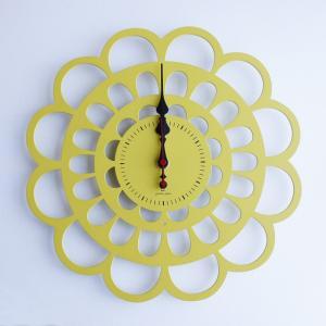 時計 BOTAN CLOCK 黄色 ヤマト工芸 yamatojapan/ウォールクロック インテリア 壁掛け ギフト プレゼント 新築祝い おしゃれ アート|ayuwara