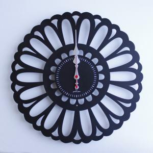 時計 Marguerite CLOCK 黒色 ヤマト工芸 yamatojapan/ウォールクロック インテリア 壁掛け ギフト プレゼント 新築祝い おしゃれ アート|ayuwara