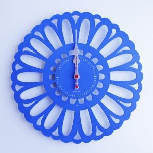 時計 Marguerite CLOCK 青色 ヤマト工芸 yamatojapan/ウォールクロック インテリア 壁掛け ギフト プレゼント 新築祝い おしゃれ アート|ayuwara