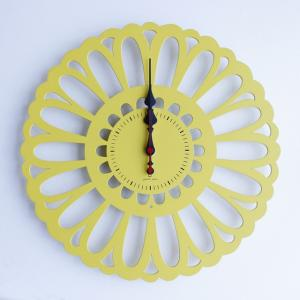 時計 Marguerite CLOCK 黄色 ヤマト工芸 yamatojapan/ウォールクロック インテリア 壁掛け ギフト プレゼント 新築祝い おしゃれ アート|ayuwara