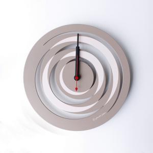 時計 spiral CLOCK アズキブラウン ヤマト工芸 yamatojapan/ウォールクロック インテリア 壁掛け ギフト プレゼント 新築祝い おしゃれ アート ayuwara