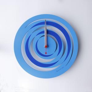 時計 spiral CLOCK 青色 ヤマト工芸 yamatojapan/ウォールクロック インテリア 壁掛け ギフト プレゼント 新築祝い おしゃれ アート ayuwara