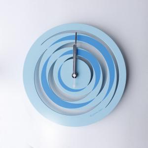 時計 spiral CLOCK 水色 ヤマト工芸 yamatojapan/ウォールクロック インテリア 壁掛け ギフト プレゼント 新築祝い おしゃれ アート ayuwara